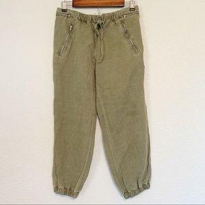 Zara Green Cropped Pants